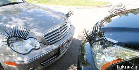 Eyelashes on Cars